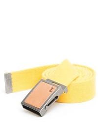 Yellow Canvas Belt