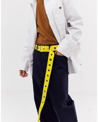 Weekday Mega Belt In Yellow