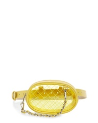 Steve Madden Diamond Quilted Clear Belt Bag