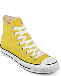 Yellow Canvas High Top Sneakers