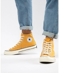 Men\u0027s Yellow Canvas High Top Sneakers from Asos