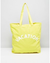 Vacation canvas shopper bag medium 4420413