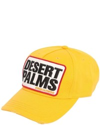 Dsquared2 Desert Palm Patch Cotton Baseball Cap