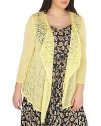 Plus size drape front cardigan medium 4354565