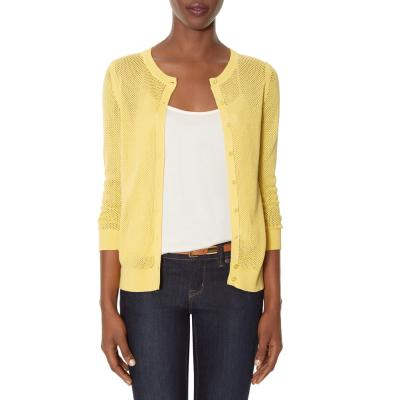 5b52a90f55 ... The Limited Open Stitch Layering Cardigan Yellow Xs