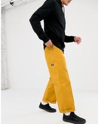 Dickies Double Knee Work Pant Chino In Yellow
