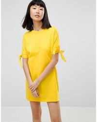 T shirt dress with bow sleeve medium 3727852