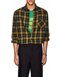 Adaptation Checked Cotton Wool Flannel Shirt