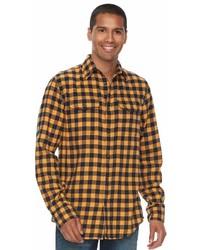 Sonoma goods for life sonoma goods for life slim fit plaid flannel button down shirt medium 6978691