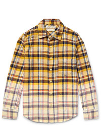Remi Relief Slim Fit Dgrad Checked Cotton Flannel Shirt