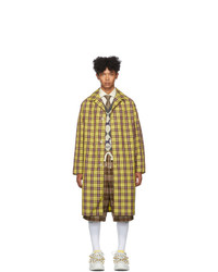 Gucci Yellow And Burgundy Nylon Coat