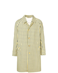MACKINTOSH Yellow Check Single Breasted Coat Gm 107bs
