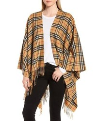 Burberry Vintage Check Cashmere Wool Cape