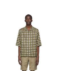 Joseph Off White Isaac Check Short Sleeve Shirt