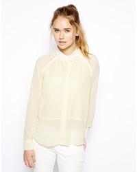 Antiya paneled blouse yellow medium 40353