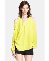 Cold shoulder silk georgette blouse medium 40354
