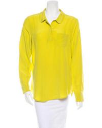 Yellow Chiffon Dress Shirt
