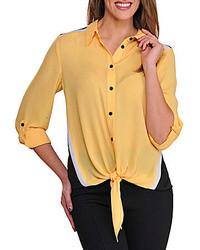 Colorblocked tie front blouse medium 179040