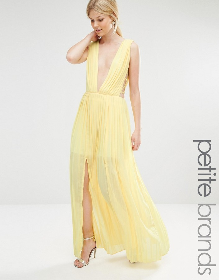 3dc0e9be88cd ... Evening Dresses Boohoo Petite Pleated Strappy Side Maxi Dress ...
