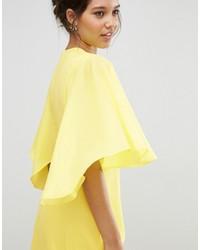 dd6848aa79 ... Asos Deep Plunge Cape Sleeve Maxi Dress ...