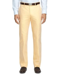 Brooks Brothers Fitzgerald Fit Plain Front Cotton Dress Chinos