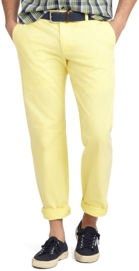 Brooks Brothers Milano Gart Dyed Twill Chinos