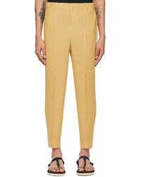 Homme Plissé Issey Miyake Yellow Rock Trousers