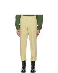 Dries Van Noten Yellow Twill Trousers
