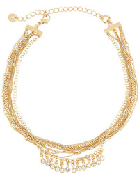 Multi chain choker necklace w crystal drops medium 1193451