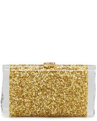 Edie Parker Lara Confetti Clutch Bag Golden