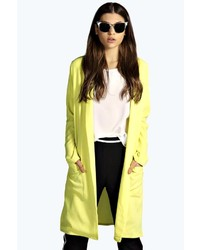 Boohoo Gloria Side Split Duster Coat