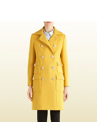 4b07fa925 Gucci Yellow Wool Coat Gucci Yellow Wool Coat Out of stock · Gucci Pintucked  Butterfly Embellished Belt Coat