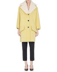 Marni Shearling Trimmed Coat