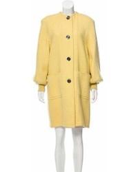 Valentino Textured Knee Length Coat