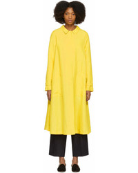Yellow linen a line trench medium 7011305