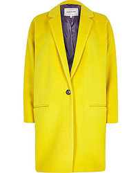River Island Yellow Oversized Coat
