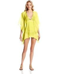 Echo Design Solid Kangaroo Beach Poncho Cover Up