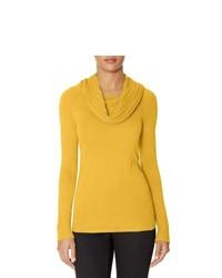 Yellow Cowl-neck Sweater