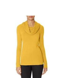 The limited textured cowl neck sweater yellow xs medium 131866