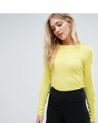 Asos Tall Asos Tall Sweater With Crew Neck In Sheer Knit