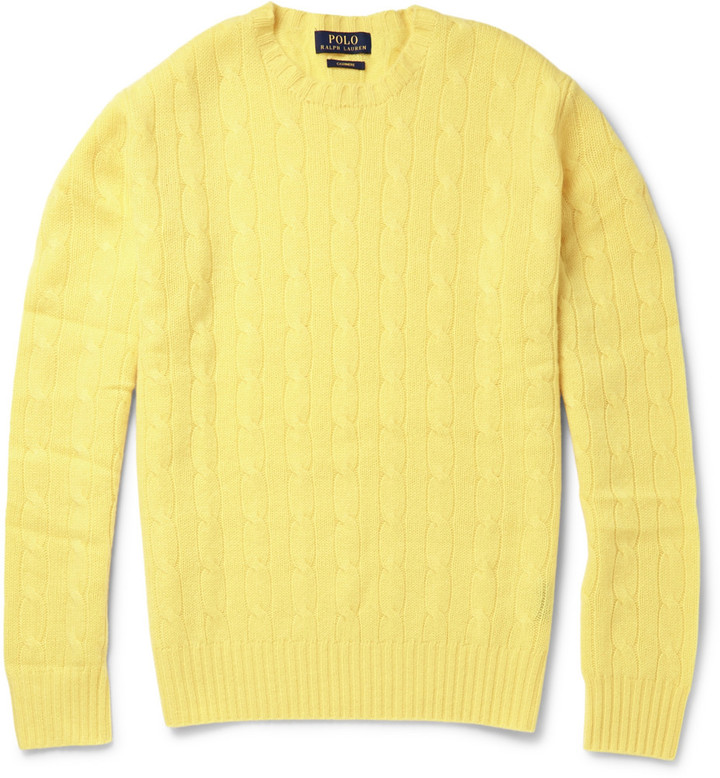 ... Crew-neck Sweaters Polo Ralph Lauren Cable Knit Cashmere Sweater ...