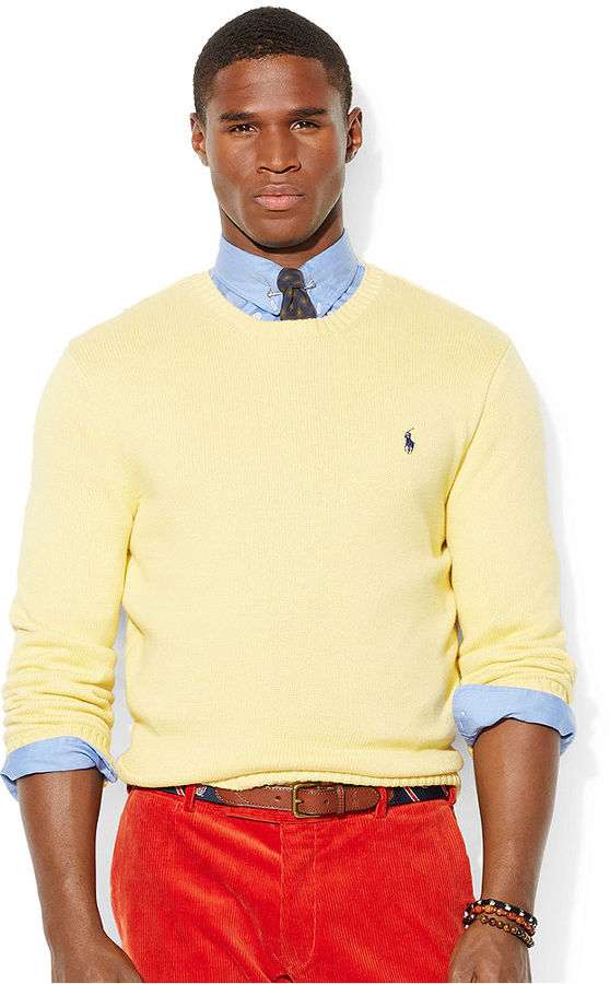 Polo Ralph Lauren Cotton Crew Neck Sweater | Where to buy & how to ...