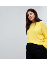 Asos Curve Curve Sweater In Fluffy Yarn With Crew Neck