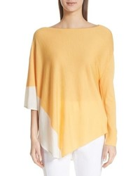 St. John Collection Jersey Knit Asymmetrical Sweater