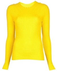 Women's Yellow Crew-neck Sweaters by Jil Sander | Women's Fashion