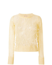 N°21 N21 Sheer Knit Feathered Sweater
