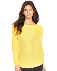 Lauren Ralph Lauren Open Knit Boat Neck Sweater