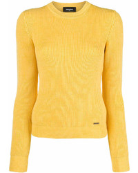 Dsquared2 Ribbed Crew Neck Sweater