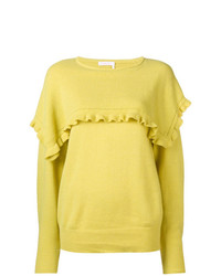 See by Chloe See By Chlo Frill Trim Fitted Sweater