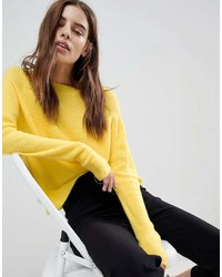 Asos Sweater In Fluffy Yarn With Crew Neck